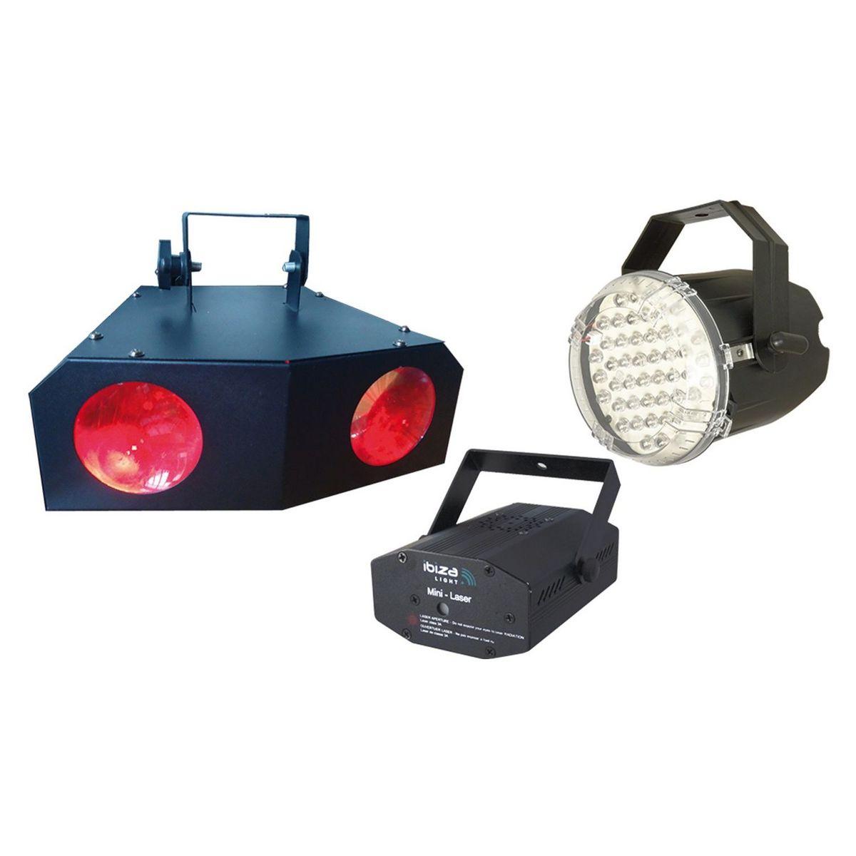 Pack 3 jeux de lumières Night & Light - Activation audio ou auto
