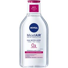 Nivea MicellAIR eau micellaire visage yeux lèvres peaux sèches 400ml
