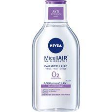 Nivea MicelAIR eau micellaire visage yeux lèvres peaux sensibles 400ml