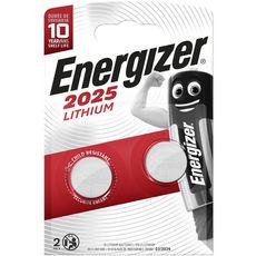 ENERGIZER Energizer Piles CR/2025 lithium 3v 2 pièces