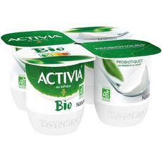 ACTIVIA Activia bio Yaourt bifidus nature 4x125g 4x125g