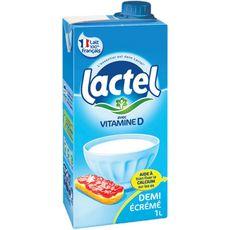 LACTEL Lait demi-écrémé 1L