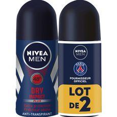 Nivea Men Déodorant bille 48h homme fraîcheur sèche 2x50ml