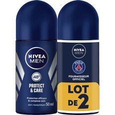 Nivea Men déodorant homme bille protect care 2x50ml