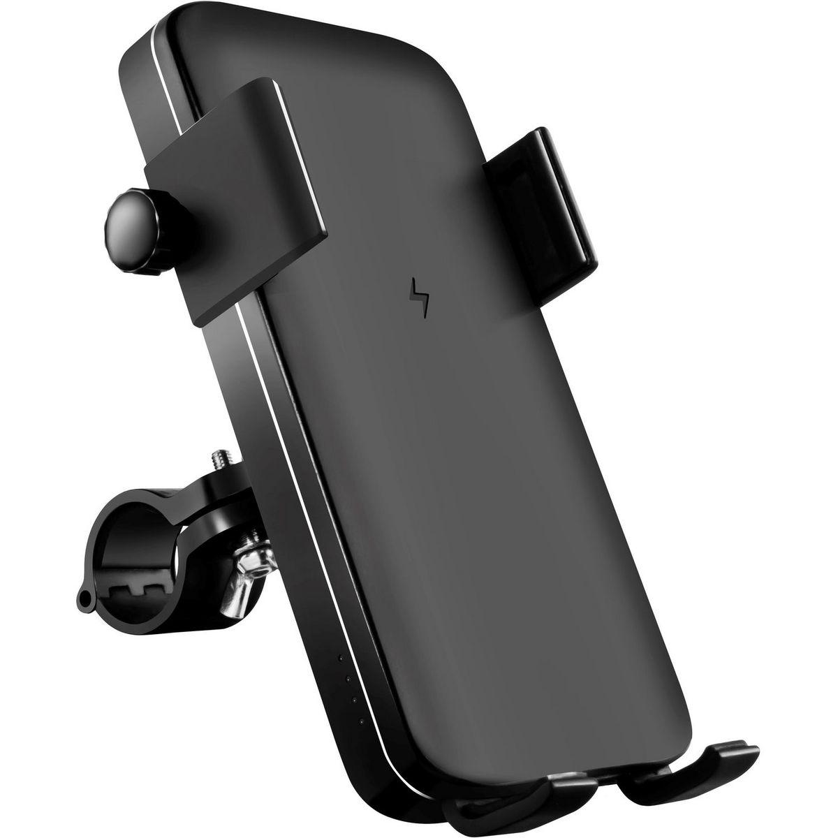 Support téléphone + batterie induction smartphone + Lampe avec fixation pour vélo