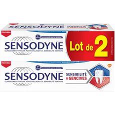 SENSODYNE Dentifrice sensibilité & gencives 2x75ml