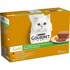GOURMET Gold barquettes pâtée viandes poissons légumes pour chat 12x85g