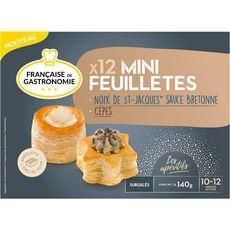 Française de gastronomie Mini feuilleté noix de Saint-Jacques et cèpes 140g