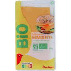 AUCHAN BIO Mimolette en tranche 160g