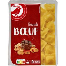 AUCHAN Ravioli au boeuf 2 portions 300g
