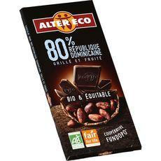 Alter Eco chocolat noir République Dominicaine bio 100g