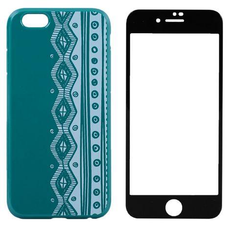 QILIVE Lot coque + protection d'écran pour iPhone 6/6S - Bleu