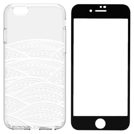 QILIVE Lot coque + protection d'écran pour iPhone 6/6S - Transparent