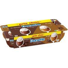 DANETTE Liégeois chocolat et café 8x100g