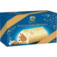 Nestlé NESTLE Nestlé Signature Bûche glacée chocolat blanc et spéculoos 507g