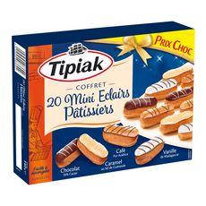 TIPIAK Coffret Mini éclairs pâtissiers 20 pièces 140g