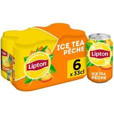 Lipton Boisson à base de thé saveur pêche boîtes 6x33cl