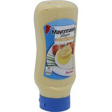 Auchan Mayonnaise allégée aux œufs frais en squeeze top down 450g
