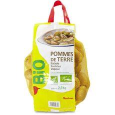 AUCHAN BIO Pommes de terre 2,5 kg