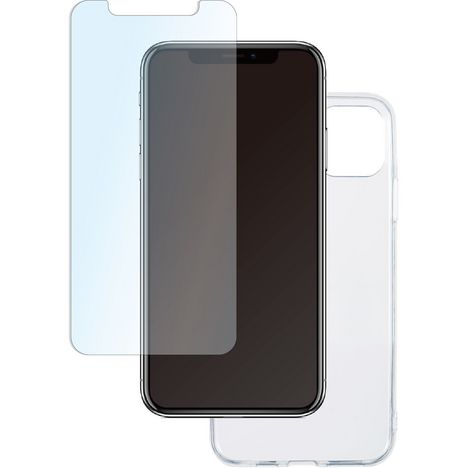 QILIVE Lot coque + protection d'écran pour iPhone 11 PRO MAX