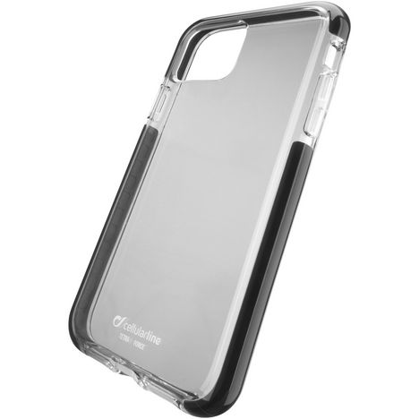 CELLULARLINE Coque pour Apple iPhone 11 - Transparent/Noir