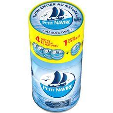 Petit Navire thon au naturel démarche responsable 4x140g +1offert