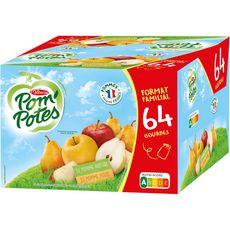 POM'POTES Gourdes pomme et pomme-poire 64x90g