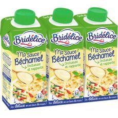 Bridélice Sauce béchamel UHT 3x20cl