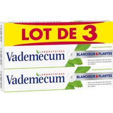 Vademecum Dentifrice blancheur et plantes 3x75ml