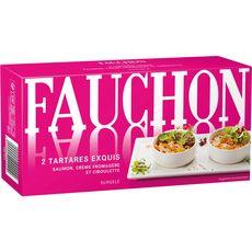 Fauchon Tartare exquis saumon, crème fromagère et ciboulette 150g