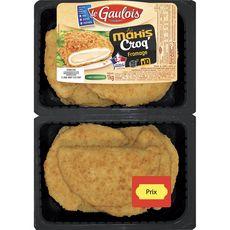 LE GAULOIS Les Maxis Croq' au fromage 10 pièces 1kg