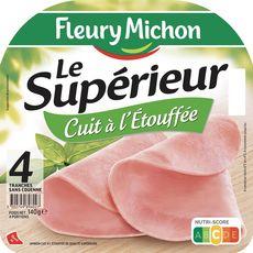 FLEURY MICHON Jambon cuit à l'étouffé sans couenne 4 tranches 140g
