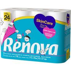 RENOVA Papier toilette blanc skin care 24 rouleaux