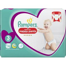 Pampers Active fit couches-culottes taille 3 (6-11kg) x35