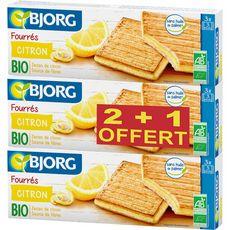 Bjorg  fourrés citron bio 2+1 offert 3x225g