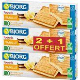 Bjorg biscuits fourré vanille bio 2x225g +1 offert
