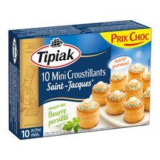TIPIAK Tipiak Mini croustillants de Saint-Jacques beurre persillé x10 120g 10 pièces 120g