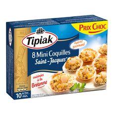 TIPIAK Tipiak Mini Coquilles Saint-Jacques cuisinés à la Bretonne x8 100g 8 pièces 100g