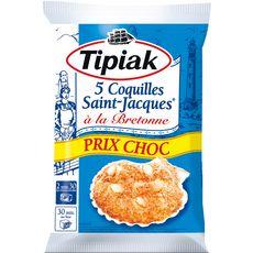 TIPIAK Coquilles Saint-Jacques à la Bretonne 5 pièces 386g