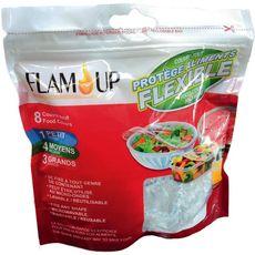 FLAM'UP Protèges aliments flexibles multi-taille 8 couvres-tout