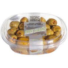 TROPIC APERO Olives vertes farcies pimentées 250g