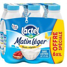 LACTEL Matin léger - Lait demi écrémé UHT 6x1L