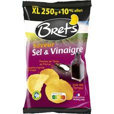 BRETS Chips saveur sel et vinaigre +10% offerts 250g