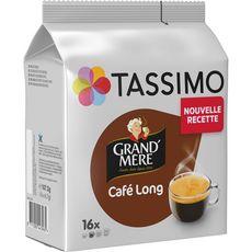 TASSIMO Café long en dosette 16 dosettes 107g