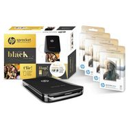 HP Pack Imprimante photo portable Sprocket Plus - Noir + 80 feuilles photo