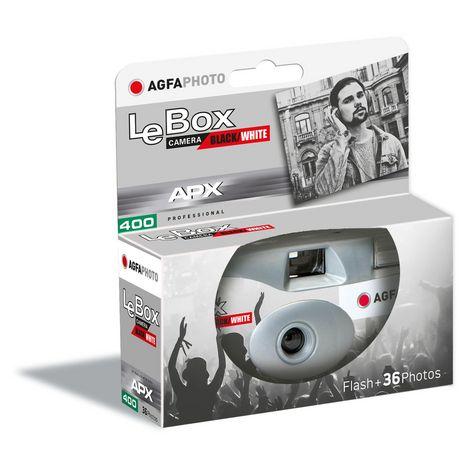 AGFA Appareil photo jetable LeBox Black/White Flash + 36 photos