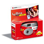 AGFA Appareil photo jetable LeBox FLASH Rouge 27 photos