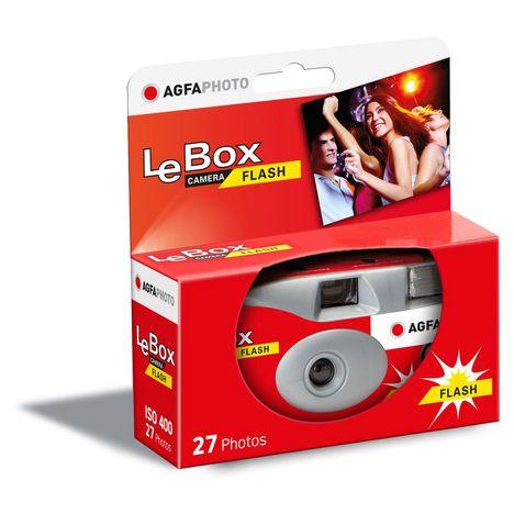 AGFA Appareil photo jetable LeBox FLASH Rouge 27 photos