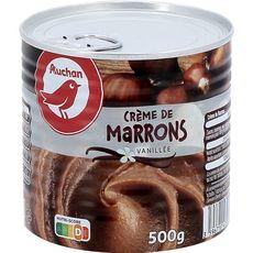 AUCHAN Crème de marrons vanillée 500g