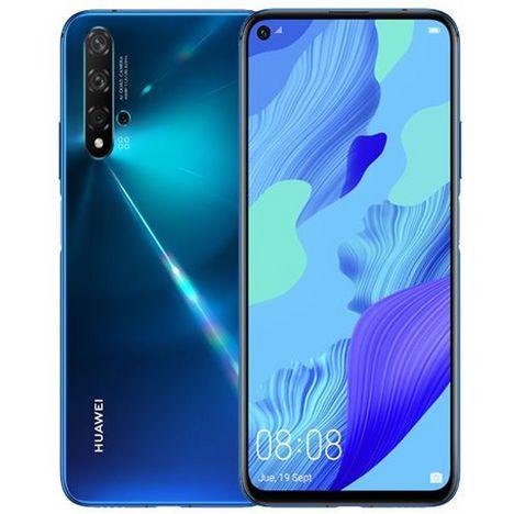 HUAWEI Smartphone Nova 5T 128 Go 6.26 pouces Crush Blue Bleu 4G+ Double NanoSim